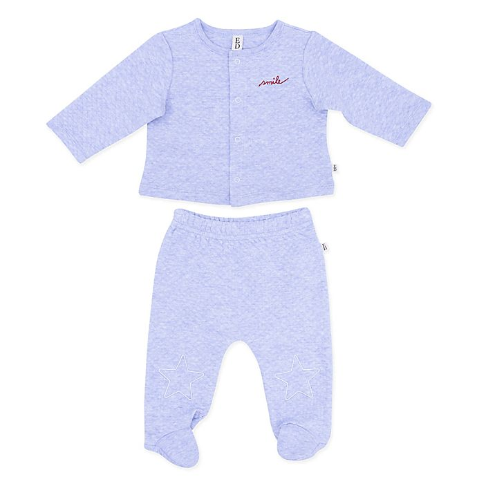 Alternate image 1 for ED Ellen DeGeneres 2-Piece Star Sweater and Pant Set in Blue