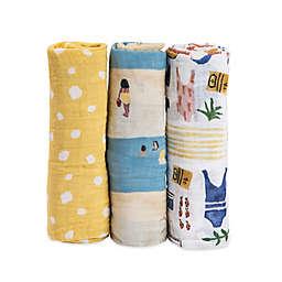 Little Unicorn Beach Muslin Swaddle Blankets (Set of 3)
