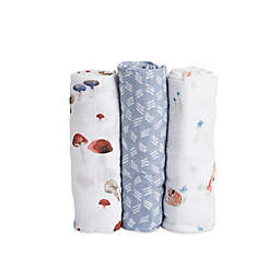 Little Unicorn Fox Muslin Swaddle Blankets (Set of 3)