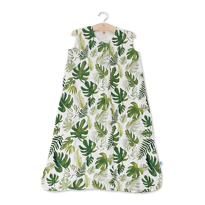 Alternate image 1 for Little Unicorn Tropical Leaf Muslin Wearable Blanket in Green