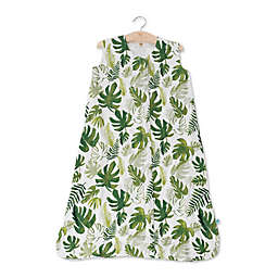 Little Unicorn Tropical Leaf Muslin Wearable Blanket in Green