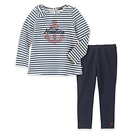 Nautica® 2-Piece Anchor Top and Legging Set