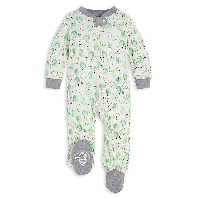 Alternate image 1 for Burt's Bees Baby® Apple of My Eye Organic Cotton Footie in Green