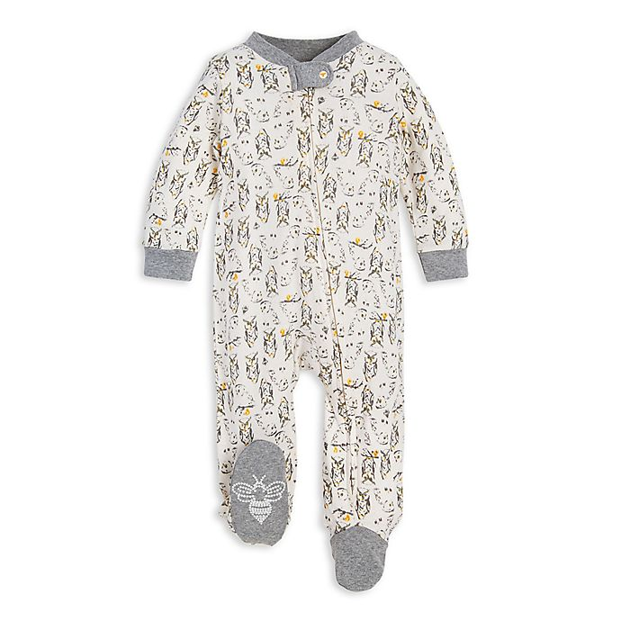Alternate image 1 for Burt's Bees Baby® Who Are You Organic Cotton Sleep and Play in Ivory