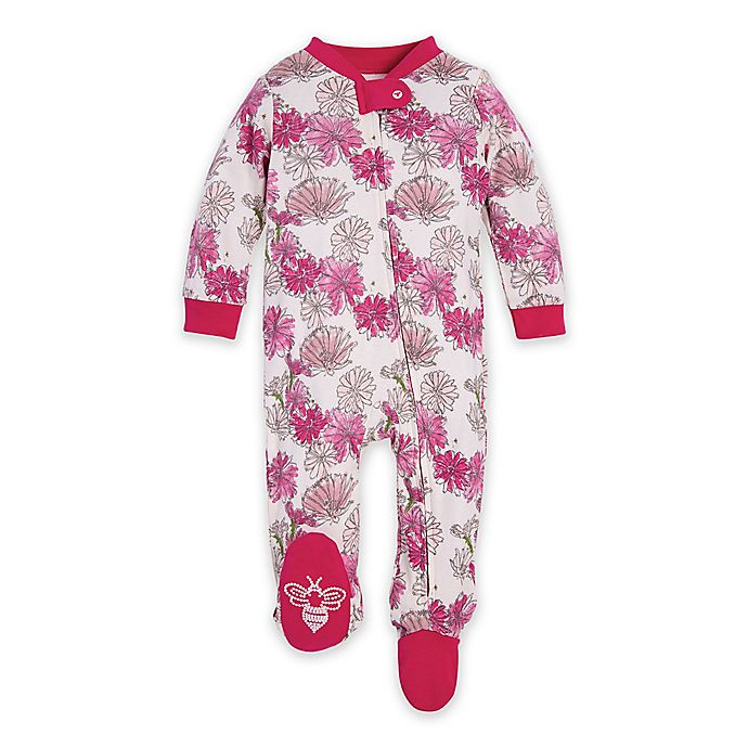 Alternate image 1 for Burt's Bees Baby® Wildflower Bunch Organic Cotton Sleep and Play in Pink