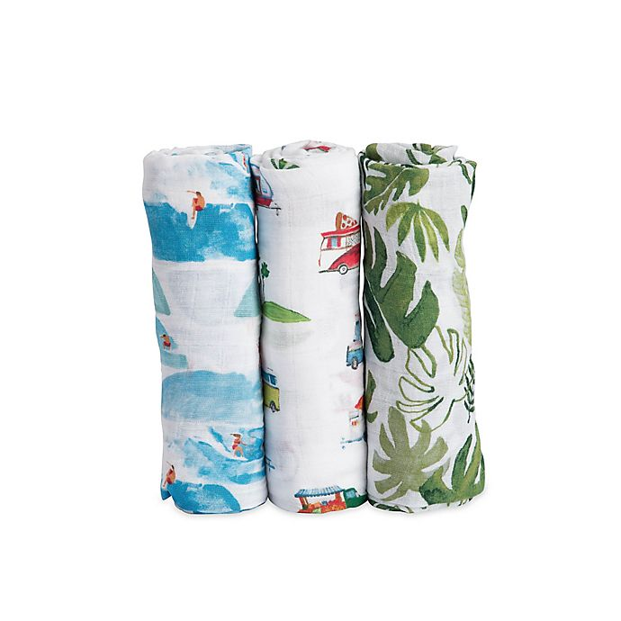 Alternate image 1 for Little Unicorn Summer Vibes Muslin Swaddle Blankets (Set of 3)