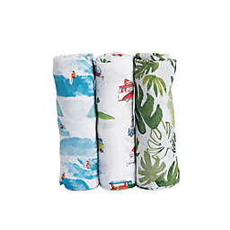 Little Unicorn Summer Vibes Muslin Swaddle Blankets (Set of 3)