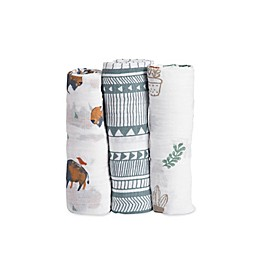 Little Unicorn Bison Muslin Swaddle Blankets (Set of 3)