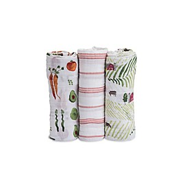 Little Unicorn Farmer's Market Muslin Swaddle Blankets (Set of 3)