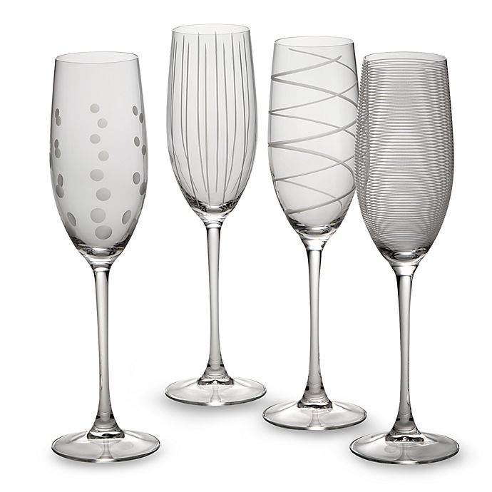 Alternate image 1 for Mikasa® Cheers 8 oz. Toasting Flutes (Set of 4)
