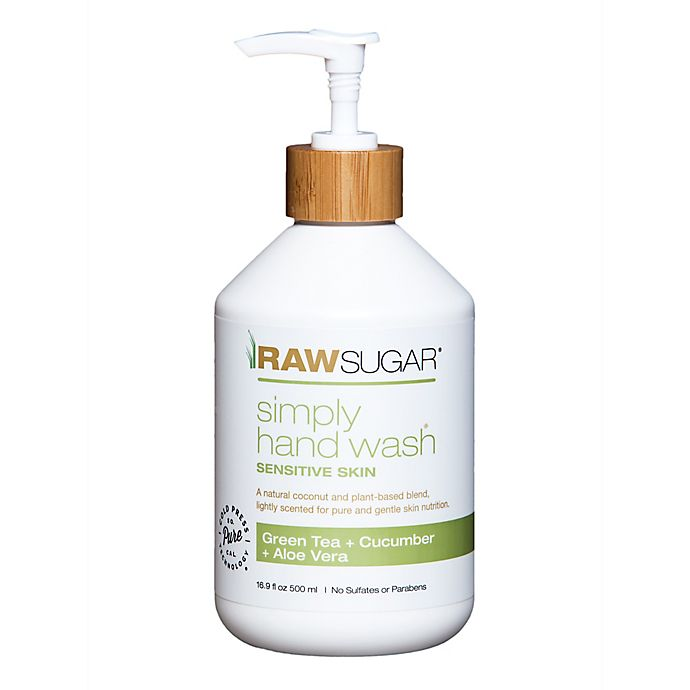 Alternate image 1 for Raw Sugar Simply Hand Wash Sensitive Skin in Green Tea and Cucumber