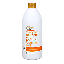 Raw Sugar Ready to Nourish and Soothe Foaming Bath in Raw Coconut and Mango