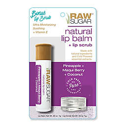 Raw Sugar Natural Lip Balm and Lip Scrub in Pineapple, Maqui Berry, and Coconut