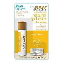 Raw Sugar Natural Lip Balm and Lip Scrub in Lemon Sugar