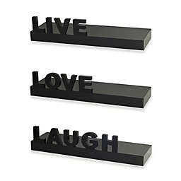 """Live"" ""Love"" ""Laugh"" Shelves (Set of 3)"