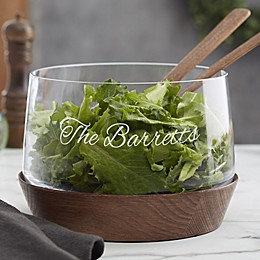 Magnus Engraved Glass Salad Bowl