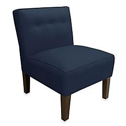 Skyline Furniture Three Button Armless Chair in Patriot