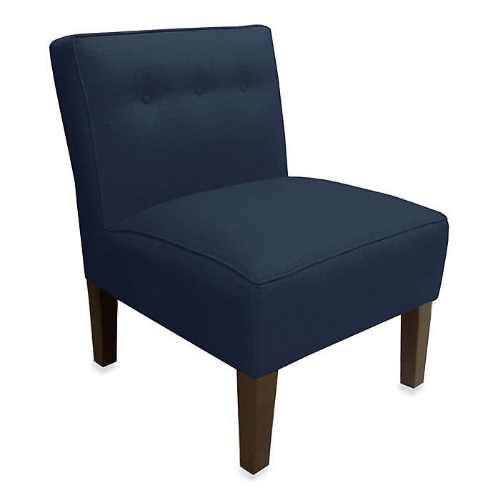Alternate image 1 for Skyline Furniture Three Button Armless Chair in Patriot