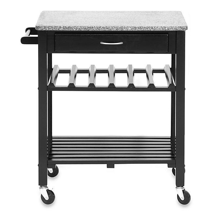 Baxton Studio Quebec Modern Kitchen Island Cart In Black