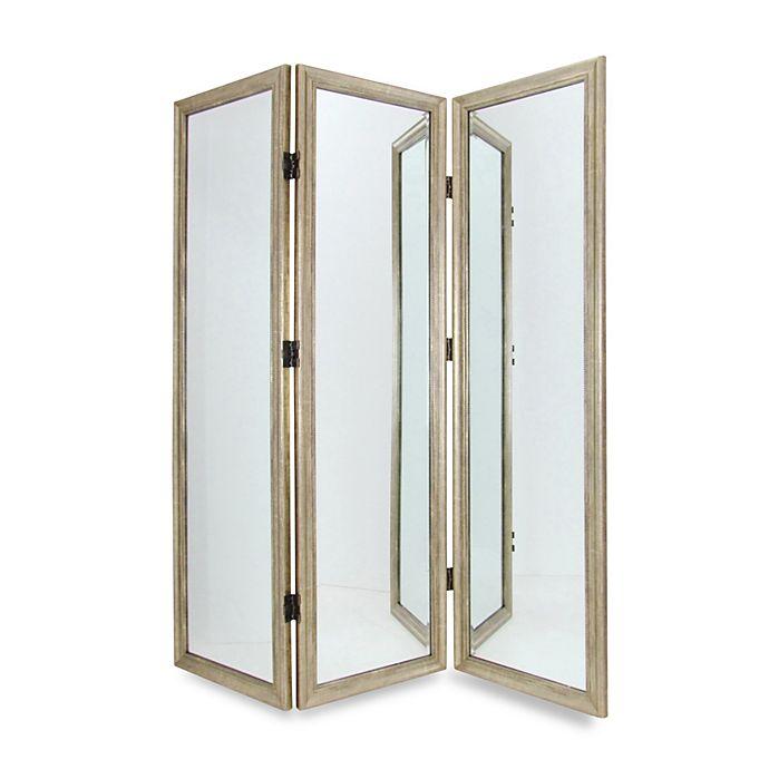 Alternate Image 1 For Full Size 3 Panel Dressing Mirror Room Divider Screen