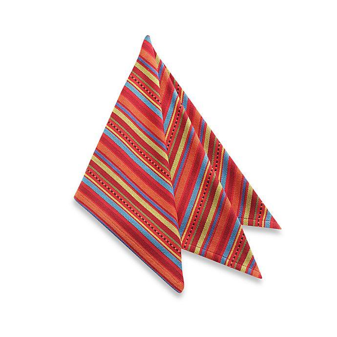 Alternate image 1 for OLE! Stripe Napkin - 100% Cotton