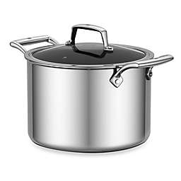 Zwilling J.A. Henckels Energy 8 qt. Ceramic-Coated Stainless Steel Covered Stockpot