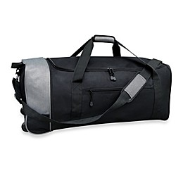 Travelers Club® 32-Inch Compactable Rolling Duffle with Side Pockets