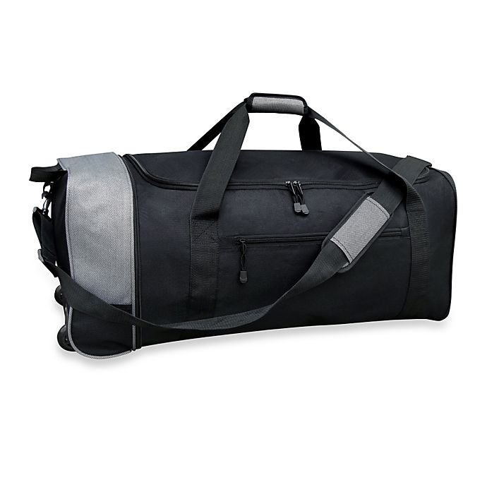 Alternate image 1 for Travelers Club® 32-Inch Compactable Rolling Duffle with Side Pockets