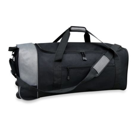 7d6b2e8d0bc2 Travelers Club® 32-Inch Compactable Rolling Duffle with Side Pockets ...