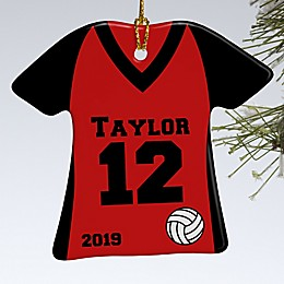 1-Sided Volleyball Sports Jersey Personalized Ornament