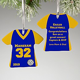 2-Sided Volleyball Sports Jersey Personalized Ornament