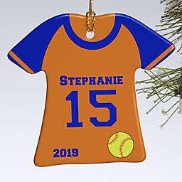 1-Sided Softball Sports Jersey Personalized Ornament