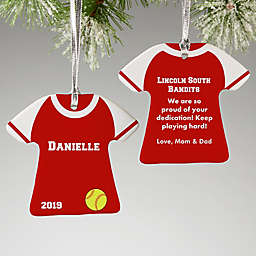 2-Sided Softball Sports Jersey Personalized Ornament