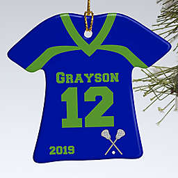 1-Sided Lacrosse Sports Jersey Personalized T-Shirt Ornament