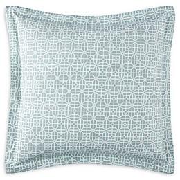Coastal Living Cape Town European Pillow Sham in Coral/Blue
