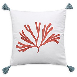 Coastal Living Cape Town Square Throw Pillow in Ivory/Coral