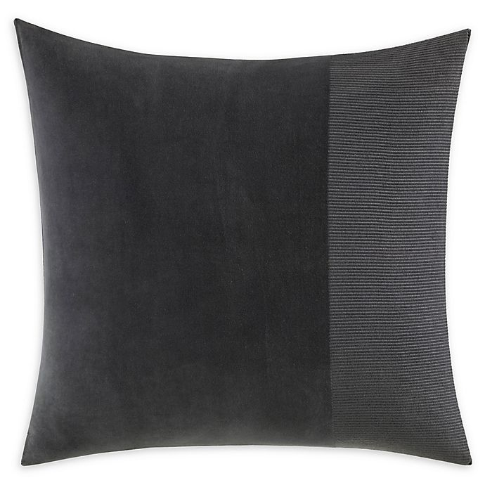 Alternate image 1 for Vera Wang® Shadow Stripe European Sham in Charcoal