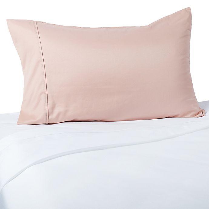 Alternate image 1 for Brookstone® BioSense 400-Thread-Count Copper-Infused Standard Pillowcase in Mauve