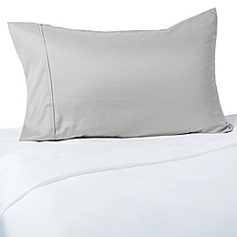 Brookstone® BioSense 400-Thread-Count Charcoal-Infused Standard/Queen Pillowcase in Nickel