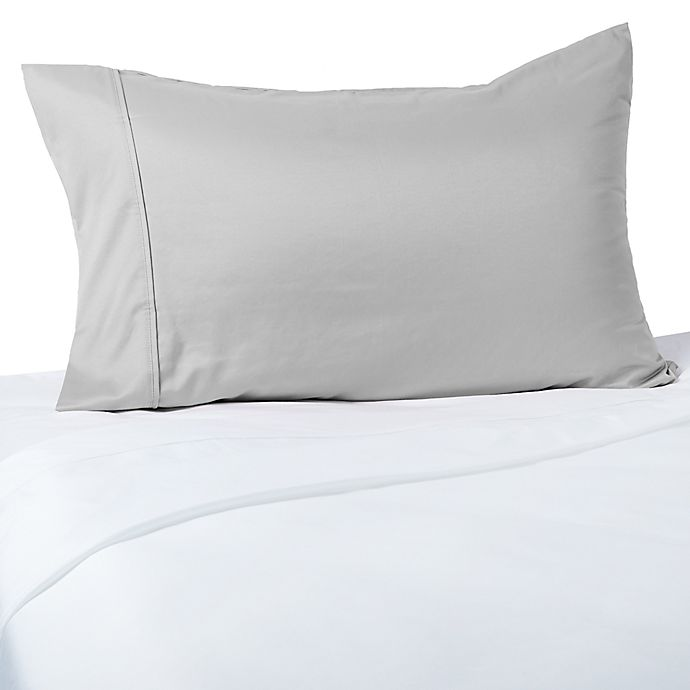 Alternate image 1 for Brookstone® BioSense 400-Thread-Count Charcoal-Infused Standard/Queen Pillowcase in Nickel