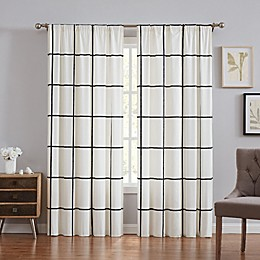 Truly Soft® Kurt Windowpane 84-Inch Window Curtain Panel Pair