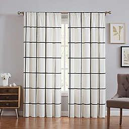 Truly Soft® Kurt Windowpane 84-Inch Window Curtain Panel Pair