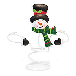 Boston International Jolly Snowman 9-Inch Metal Bottle Topper