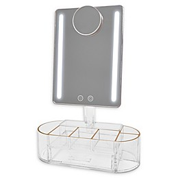 Blushly Lighted Vanity Mirror with Organization Base
