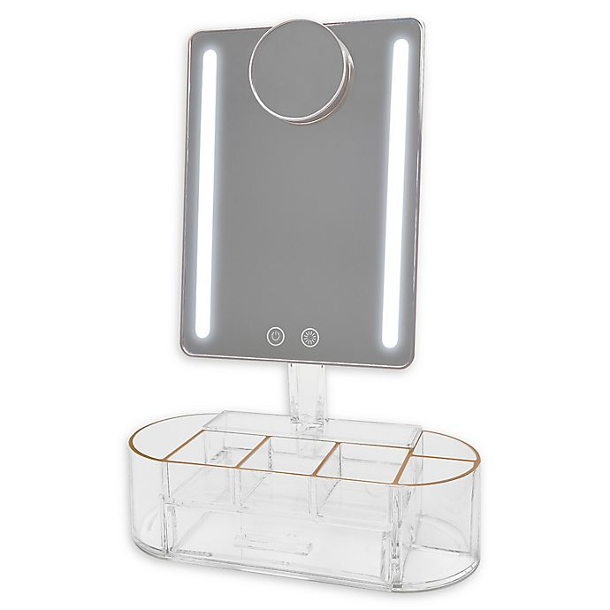 Alternate image 1 for Blushly Lighted Vanity Mirror with Organization Base