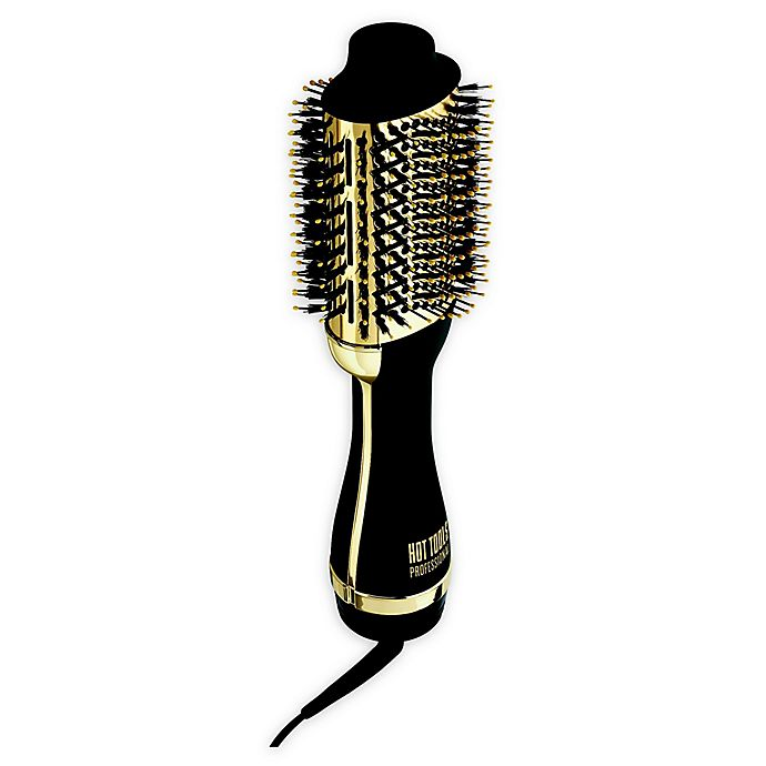 Alternate image 1 for Hot Tools® Professional Charcoal-Infused One-Step Blowout Styling Tool in Black/Gold