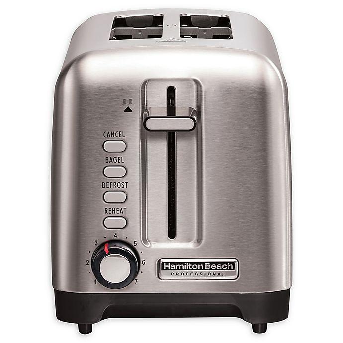 Alternate image 1 for Hamilton Beach® Professional Stainless Steel 2-Slice Toaster