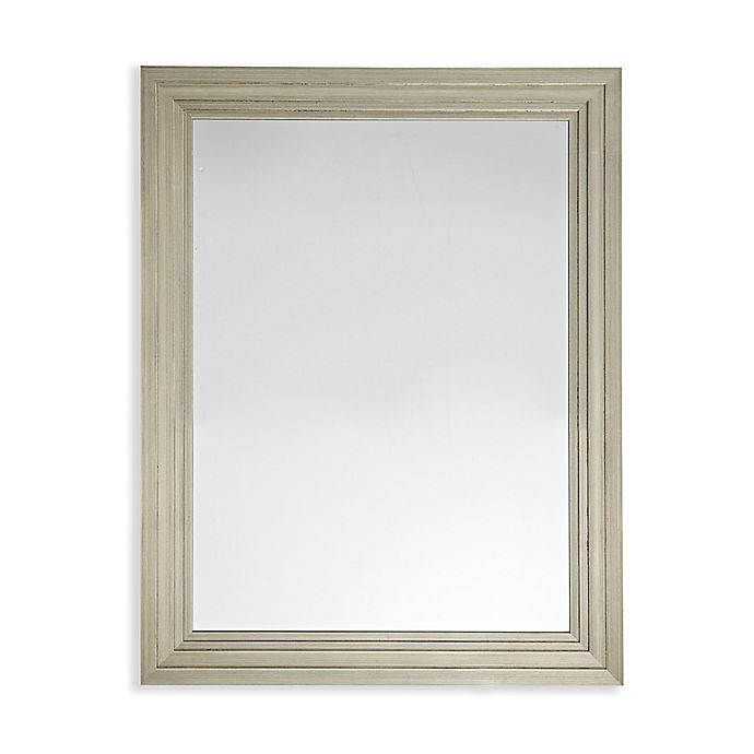 Alternate image 1 for Martha Stewart Ridge 36-Inch x 28-Inch Rectangle Accent Mirror in Silver