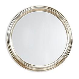 Martha Stewart Spruce 30.5-Inch Round Accent Mirror in Silver