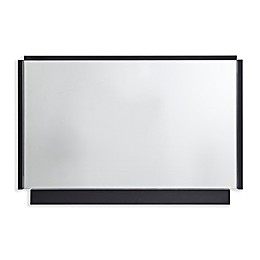 Martha Stewart Bento 24-Inch x 36-Inch Rectangle Accent Mirror in Black